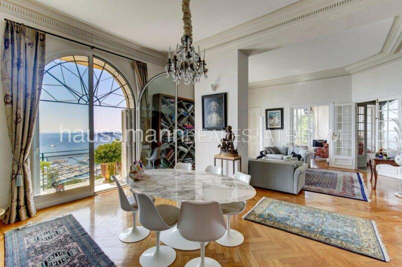 résidence belle epoque avec vue mer panoramique et jardins