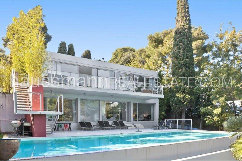 villa contemporaine au coeur du cap ferrat avec piscine